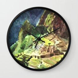 Machu Picchu Peru South America Wall Clock