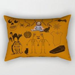 Halloween With Chucky Rectangular Pillow