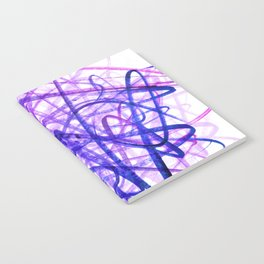 Violet Chaos Expressive Lines Abstract Notebook