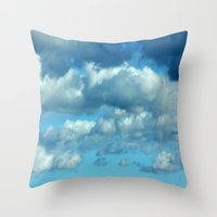 german Throw Pillows featuring German clouds by LoRo  Art & Pictures
