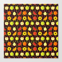 fruit Canvas Prints featuring FRUIT by badOdds