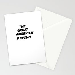 The Great American Psycho Stationery Cards