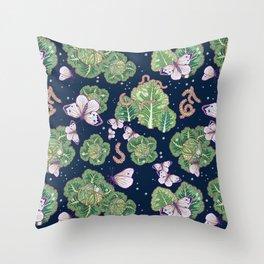 mischief in the garden Throw Pillow