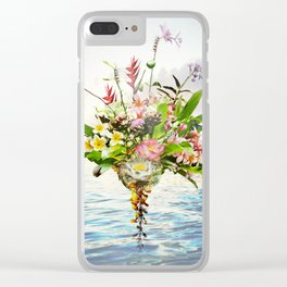 Abundance Of Beauty - Sapphire Blue Ocean Clear iPhone Case
