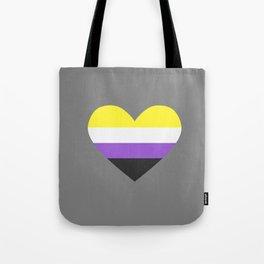 non binary heart Tote Bag