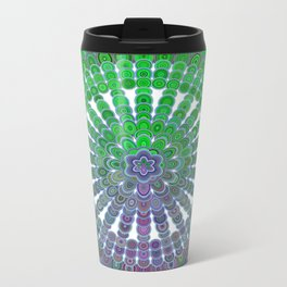 Spring Mandala Wheel Metal Travel Mug