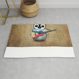 Baby Penguin Playing Filipino Flag Acoustic Guitar Rug