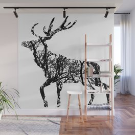 Deer in the forest Wall Mural