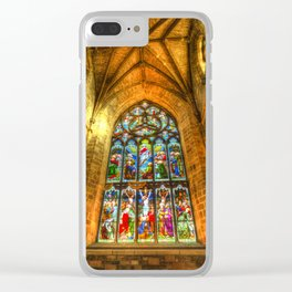 Cathedral Stained Glass Window Clear iPhone Case