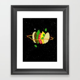 Planetary Discovery 8932: Cheeseburger Framed Art Print
