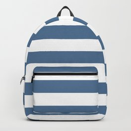 Blue and White Stripes Backpack