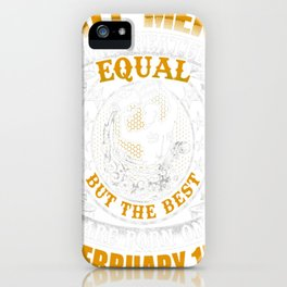 Best-Men-Are-Born-On-February-15-Aquarius-Shirt---Sao-chép---Sao-chép iPhone Case