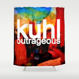 Kuhl's Circus Of Outrageous Album Cover Shower Curtain
