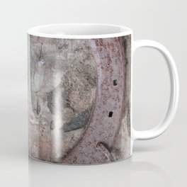 Rusted Horseshoe on Weathered Wood rustic decor Coffee Mug