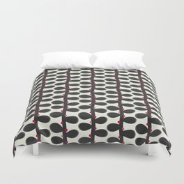 Like a Leaf [red spots] Duvet Cover