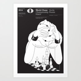 Sochi 2014 World Chess Championship Match Art Print