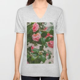 Camellias Unisex V-Neck