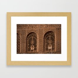Arabic Insets (Marrakech) Framed Art Print