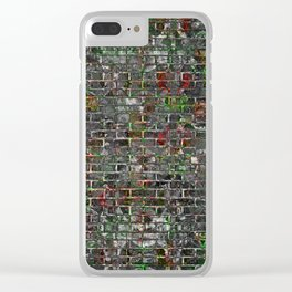 Grunge Wall Of Mould And Green Clear iPhone Case