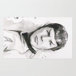 Spock Portrait Watercolor Sci-fi Geek Art Rug