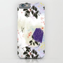 Purple abstract nature pattern iPhone Case