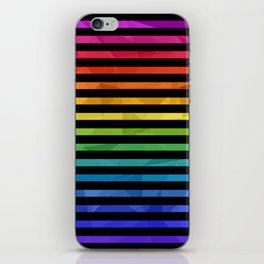 BLACK + RAINBOW iPhone Skin