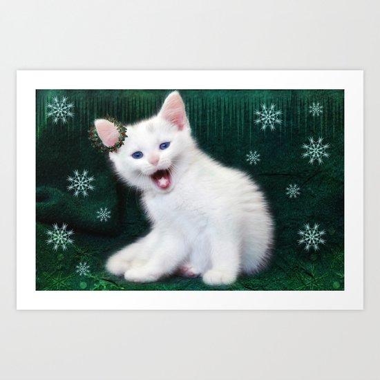 Catching Snowflakes Art Print
