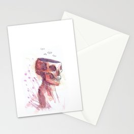 Skeleton in Purple Stationery Cards