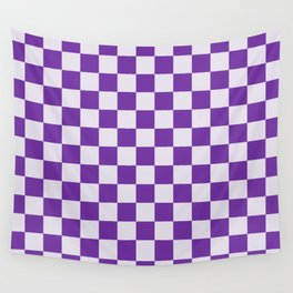 Purple and Lavender Check Wall Tapestry