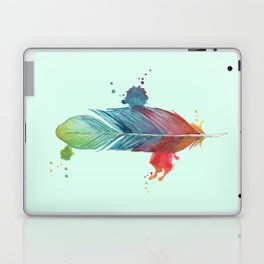 Minted Rainbow Feather Laptop & iPad Skin