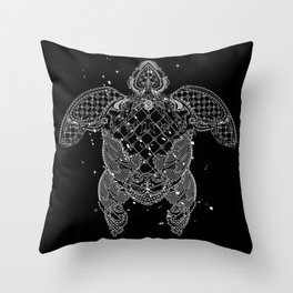 Sea turtle made of precious lace Throw Pillow