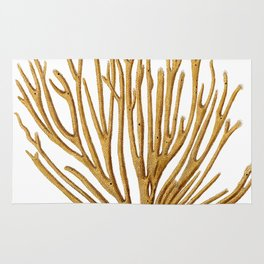 Sea Coral No.12 Antique Natural History Print. Rug