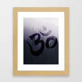 OM: Hint of Mist Framed Art Print