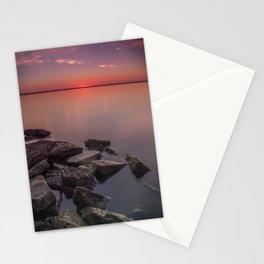 Sunrise over Lake Winnebago, Neenah Wisconsin Stationery Cards