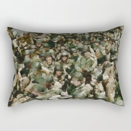 Ghosts of D Day, WWII Rectangular Pillow