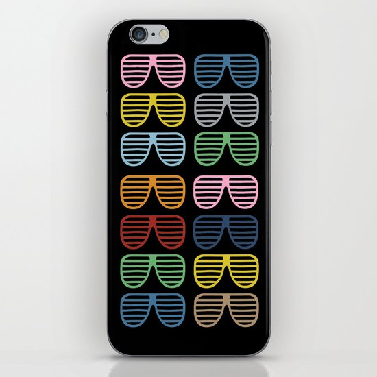 Rainbow Shutter Shades at Night iPhone & iPod Skin