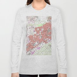 Vintage Map of Riverside California (1967) Long Sleeve T-shirt