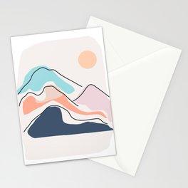 Minimalistic Landscape III Stationery Cards