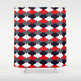 Manta Ray Pattern (Blue and Red) Shower Curtain