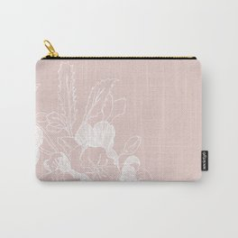 Floral Ink - Winter Roses in Blush Pink Carry-All Pouch