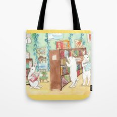 Bookstore Bunnies Tote Bag