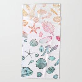 Mollusk madness Beach Towel