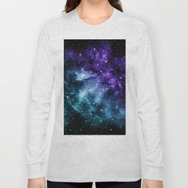 Purple Teal Galaxy Nebula Dream #1 #decor #art #society6 Long Sleeve T-shirt