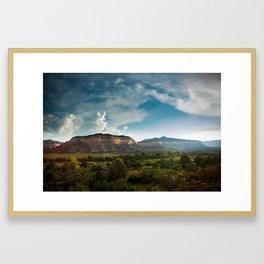 Laguna Mesa, Chama River Canyon Framed Art Print