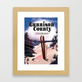 Gunnison County Colorado Ski Framed Art Print