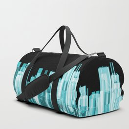 Hologram city panorama Duffle Bag