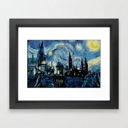 Magic Castle Starry Night Framed Art Print
