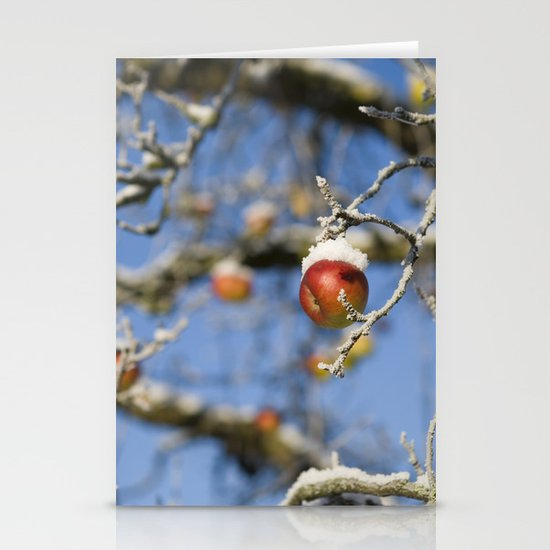 Snow Apple Stationery Cards