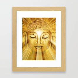 Golden Buddha Framed Art Print