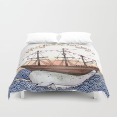 Float My Boat Duvet Cover